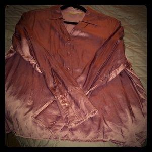 Silky long sleep blouse